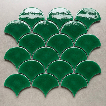Foshan Green Fish Scale Porcelain Tile