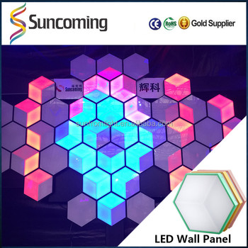 Patented products 3d honeycomb night club led disco stage - Decoration boite de nuit ...