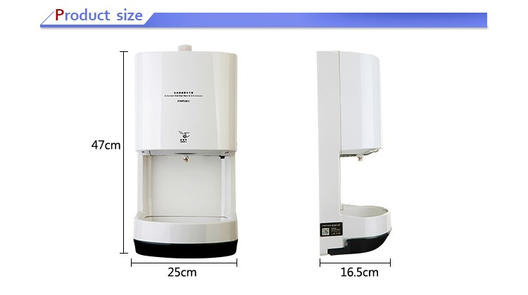 Wall-mounted automatic sensor disinfecting spray alcohol large capacity hand arm sterilizer cleaner disinfector