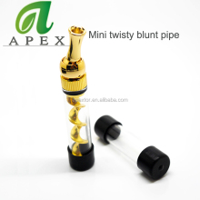 Latest topoo vaporizer mini twisty glass blunt from glass blunt