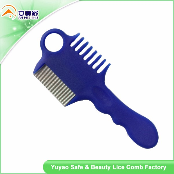 Long handle pet nit comb comb lice comb with small smooth needles
