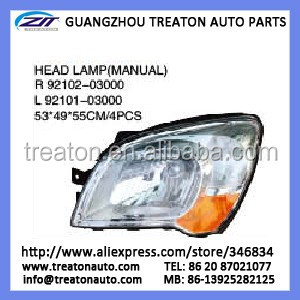 HEAD LAMP MANUAL 92102-03000/92101-03000 FOR SPORTAGE 08