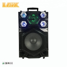 "Portable huge size trolley 15"" bass speaker with party light"