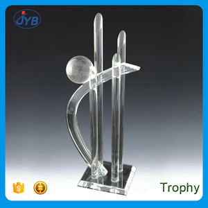 China cheap trophies and medals custom national day blank acrylic awards  trophy