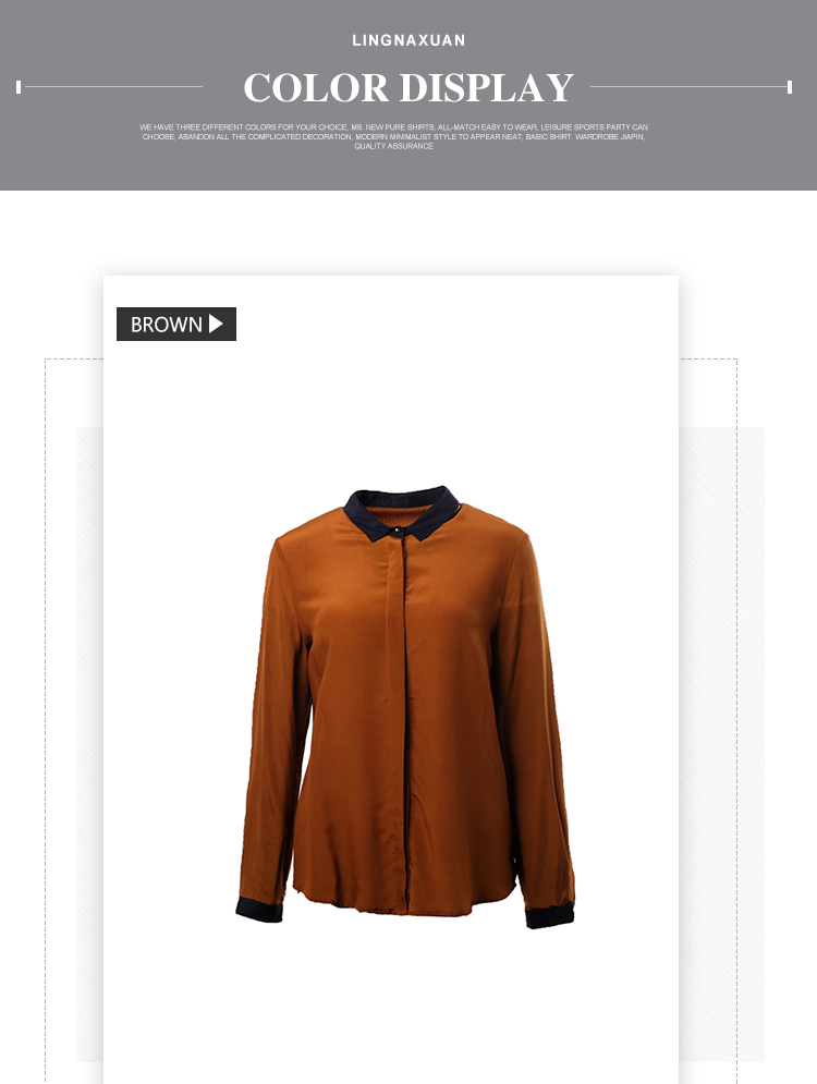 Spring New Design Normal Long Sleeve Office Blouse For Women Buy