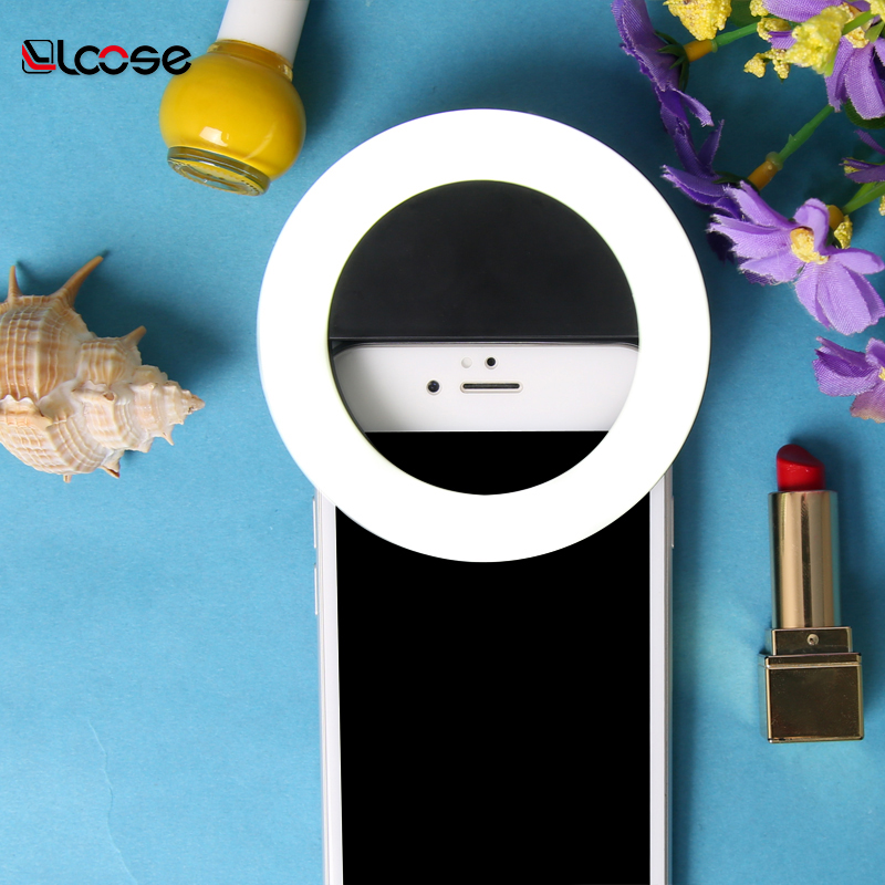 2018 hot LED Universal Circle Selfie Ring Light Selfie LED Ring Flash Fill Light Phone Camera For iPhone