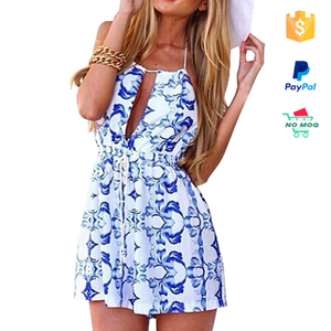 Halter Folral Print Fancy Beach Wear Wrap Summer Dress