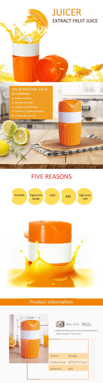 Portable manual fruit juicer citrus juicer hand press manual orange juicer