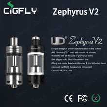 High quality&best price e cig new arrival 6ml zephyrus v2 rba atomizer tank