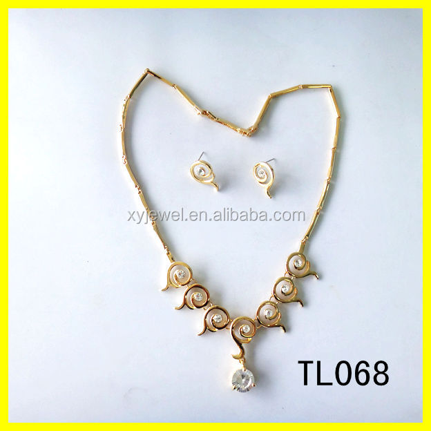 18kgp arabic bridal jewelry sets imitation gold necklace oem jewelry