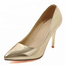 Best Selling Gold Dress Shoes for Wedding Pumps Pointed Stiletto High Heels Pointed Toe Wedding Shoes for Bridesmaids