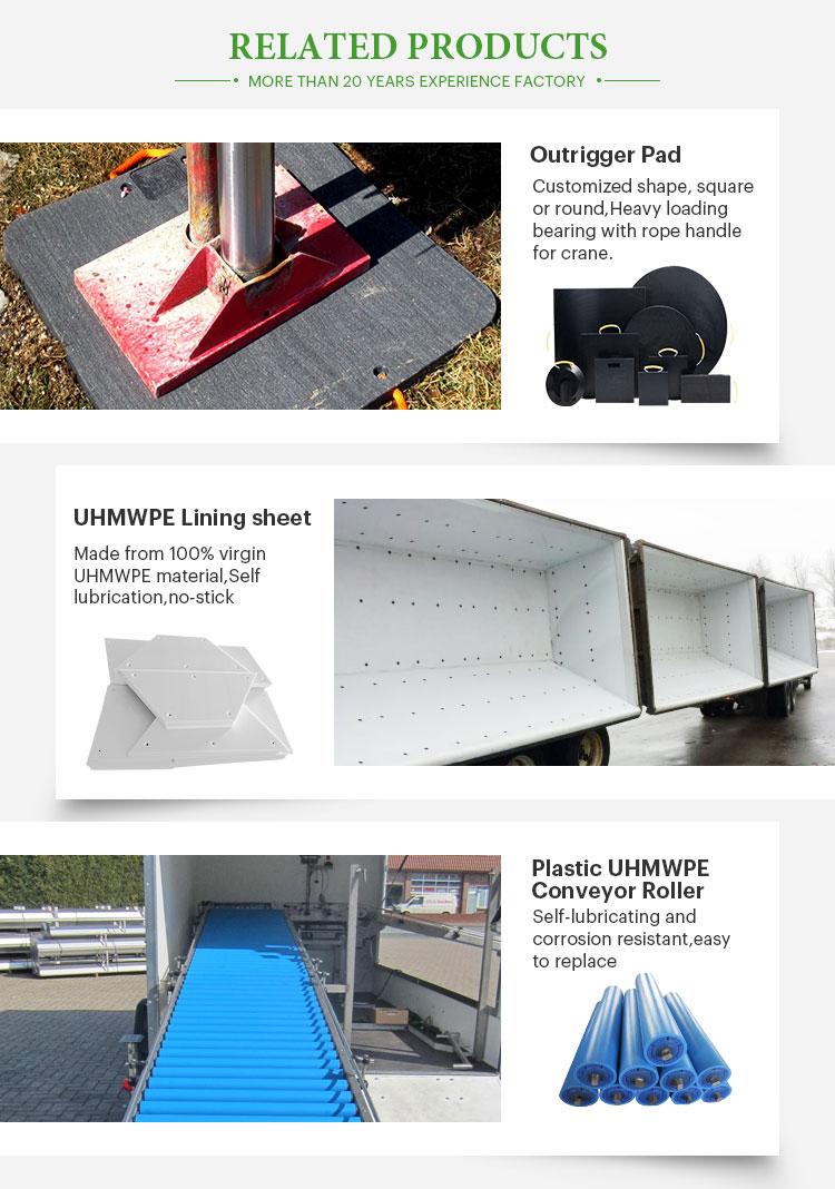 Usine de HDPE de piste de bulldozer tapis protège-sol