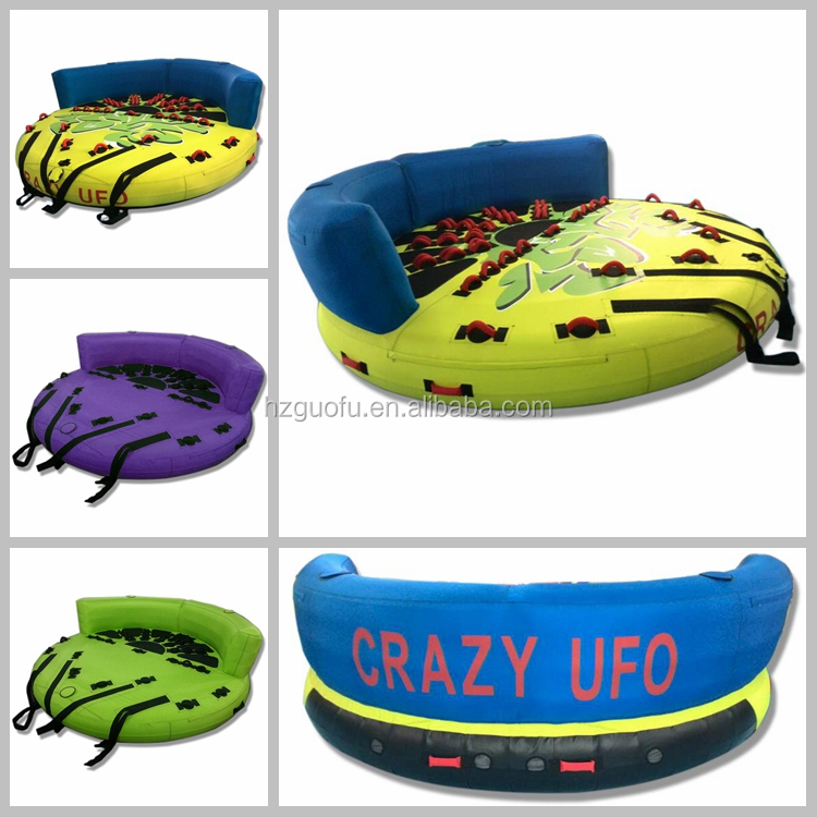 Customized Commercial Inflatable Crazy UFO Ski Towable Tube For Rental