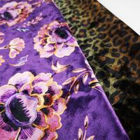 Popular 3D Digital Printed Cotton Velvet Fabric