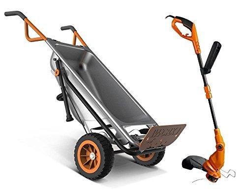 WG050 + WG119 Worx 8-in-1 Wheelbarrow AeroCart + FREE 2-in-1 Electric Trimmer / Edger