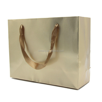 packaging bags for wedding gift, gold and silver color paper carrier bag