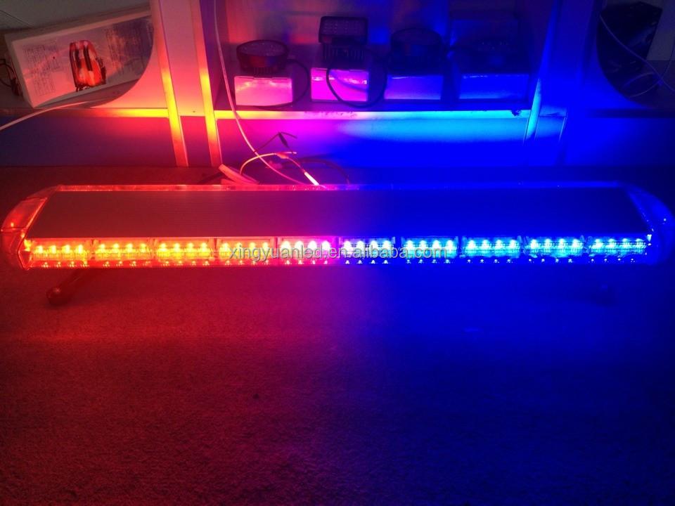 Led Strobe Light Bar With Siren Horn Speaker Used Police