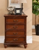 Decorative Full Extension Empty Arcade Oak Wood Living Room 4 Chest Drawer Unit Cabinet