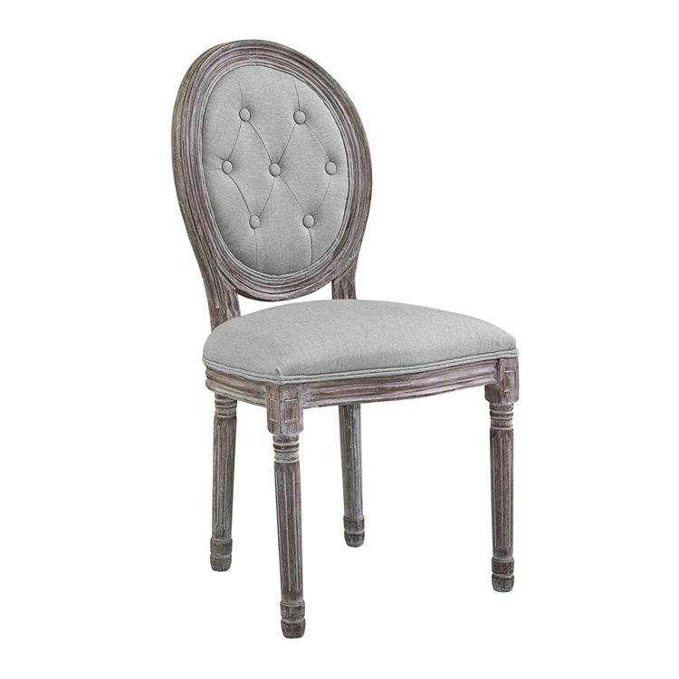 Ghost French Furniture Vintage Dinning Classic Antique Funiture Tufted Solid Wood Louis Xvi Dining Chair