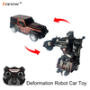 Bricstar upgraded smart one button deformation remote control stunt robot car for boys