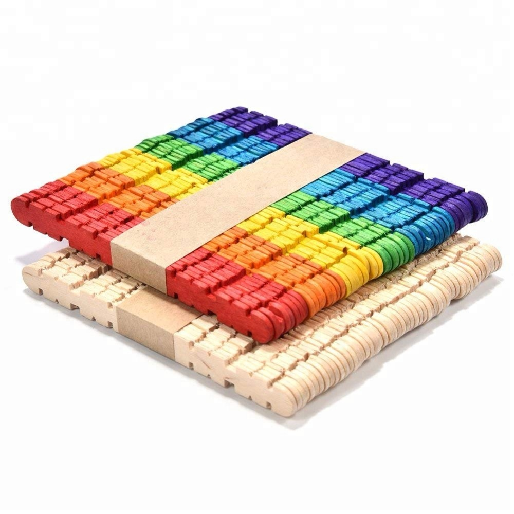 Packung mit 50 4,5-Zoll-Multi Color Holz Popsicle Sticks DIY hausgemachte Craft Sticks