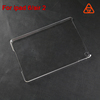 transparent PC case PU flip cover mobile phone leather case factory For ipad air 2 case