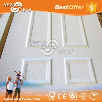 Wood Veneer HDF Moulded Door Skin Price / White Wooden Door