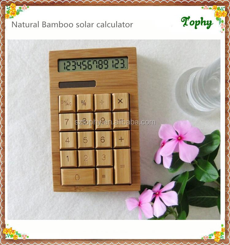 Bambú Natural Ecológico Calculadora Con Madera Enmarcado,Ventas Al ...