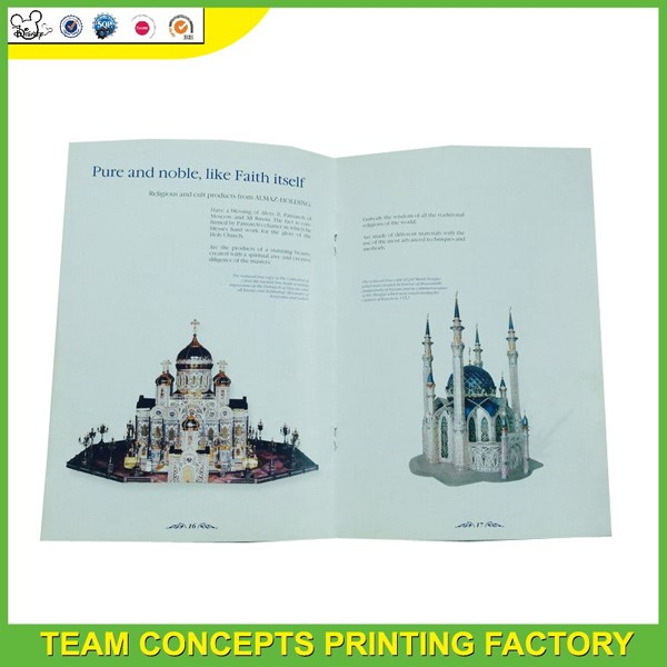 Glossy lamination full color promotional leaflets printing