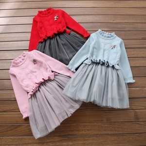 Wholesale Kids Frock Designs Pictures Kids Wears Girls Winter Sweater Dress