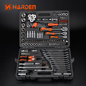 "Professional Chrome Vanadium 120+2PCS 1/2""& 3/8"" &1/4"" Repairing Hand Tools Heavy Duty Universal Socket Wrench Set"