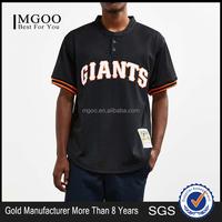 2017 Custom Logo Dri Fit T Shirt Tops Ribbed Cuffs Curved Hem Men Sport T-shirt Baseball Sportwear Tees