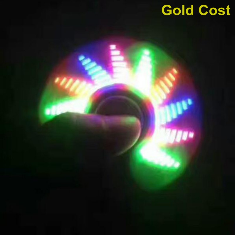 new Hot selling OEM 17 text and photos LED finger gyro spinner