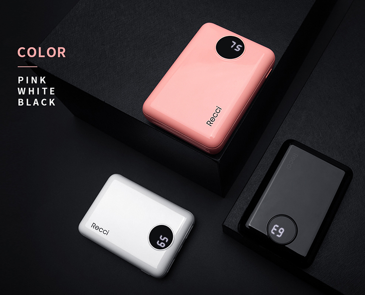 Recci high capacity mini best power bank chargers for promotion