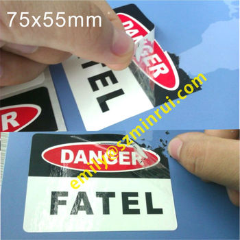Custom laminated eggshell stickerswater proof and sun proof ink egg shell stickerswarning
