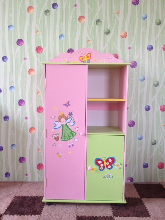 Top Hot Selling Wooden Kids Wardrobe Cabinet For Storage Kids