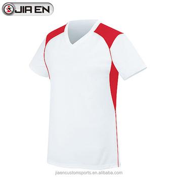 Último Rojo Blanco Jersey De Fútbol Diseño Personalizado En Blanco ...
