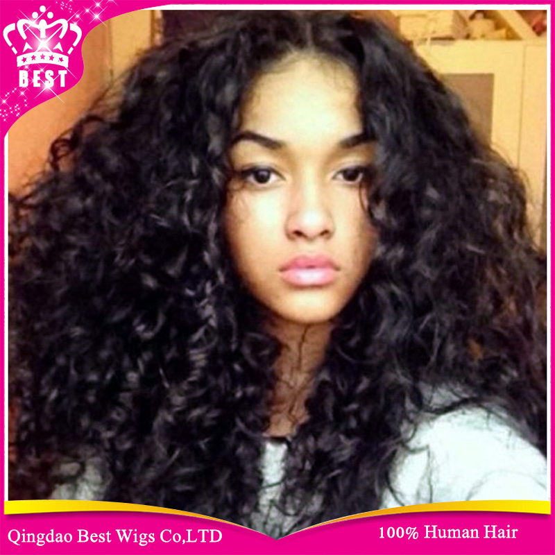 hot human lace front wig for black women virgin brazilian curly lace wig with baby hair glueless. Black Bedroom Furniture Sets. Home Design Ideas
