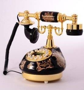 Ceramic antique telephone dial-up telephone call Europe type restoring ancient ways antique telephone