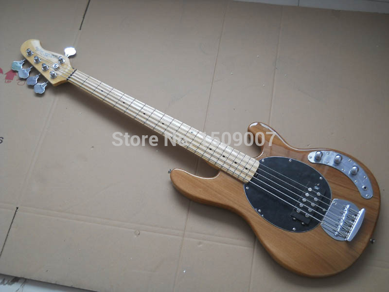 new music bass stingray 5 strings electric bass guitar with 9v active pickups in guitar from. Black Bedroom Furniture Sets. Home Design Ideas
