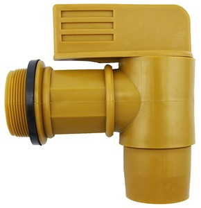 "2"" BSP Thread Polyethylene Drum Faucet Gold Barrel Tap Plastic Spigot"