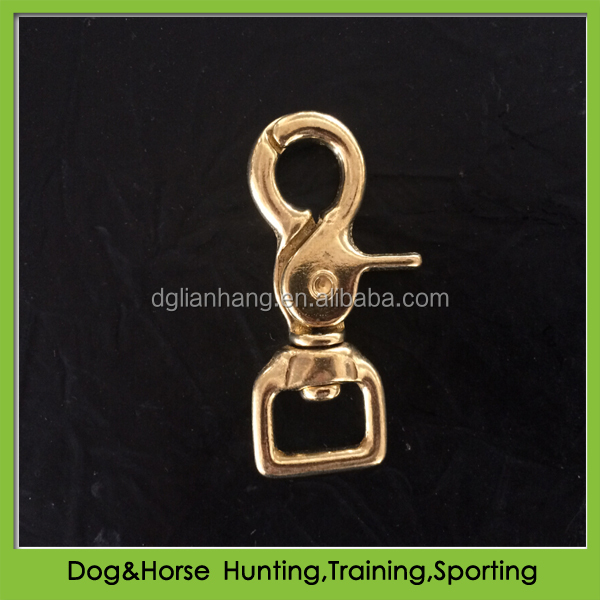 Heavy duty brass hardware fittings for horse halter bridle rein