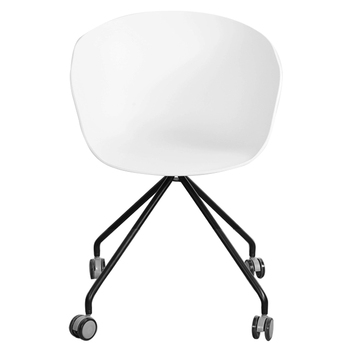 GY-4015 Simple Beautiful Modern Office Dining Living Room Furniture Restaurant Coffee Egg Plastic Arm Chair With Wheels
