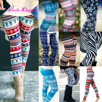 342960cd4eda2 Factory Outlet Winter Custom Printed Thick Warm Leggings Fur Lined Christmas  leggings