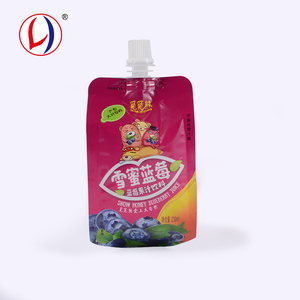 Latest Innovative Plastic Standing Reusable Juice Pouch With Spout