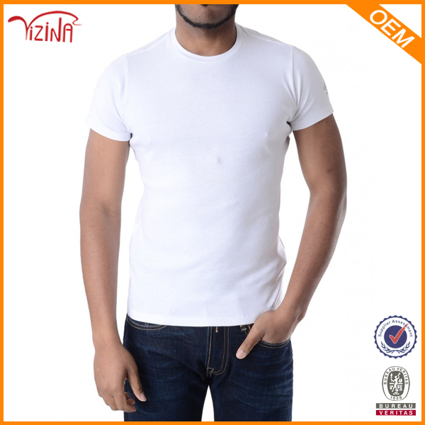 China Supplier 95% Cotton 5% Spandex Plain White T-shirt With Man ...