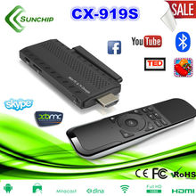 RK3188 Quad Core Android 4.2 2GB Smart HI 1080P Bluetooth IPTV 919S Mini PC Android TV Stick with X2