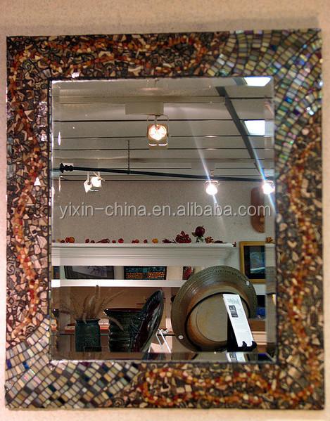 Rectangle Decorative Wall Framed Glass Mosaic Mirror Bedroom Bathroom
