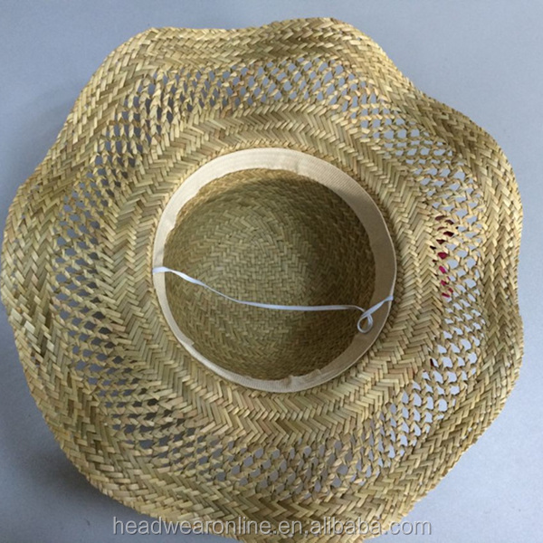 4aaef9a0702 Summer Fashion Custom Union Jack Flag Embroidery Straw Bowler Hats China  Factory