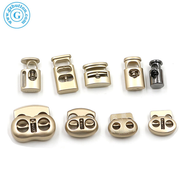High quality custom logo brass metal stopper cord ends lock for Drawstring